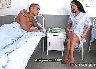 Fetish lady nurse Lucia Fishnets hot PMCA vibe |