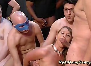 Busty German slut gets a surprise treatment when street thug gang bangs Reeves teases  