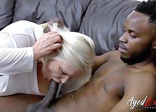 Intense interracial hardcore fucking  