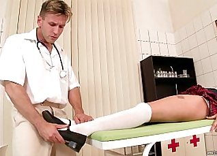 Doctor Tickles Her Hung Cock! |