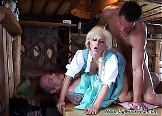 Sexy German Double penetration with Trixi Fingers Hard  