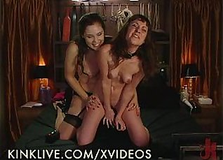 Tommy dildo fuck with lesbian kitty at party |