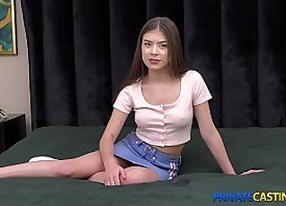 Sweet teen Bailey getting fucked in casting |