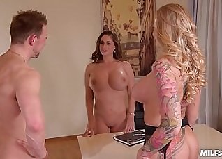 Candy Fontes is a MILF just like you who likes good office fuck foursome |