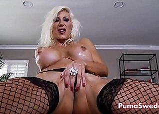 Sexy sweet Hungarian blonde Eva Karera has solo sex |