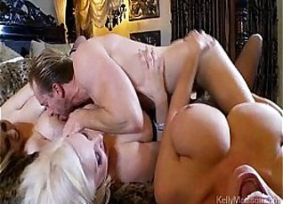 Busty babes Cauren Bloomback in threesome fuck with horny husbands  