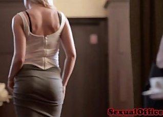 Hot Czech secretary shows busty step girl her big BF Showing |