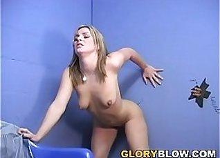 Isabel Ice sucks a donkey kong-sized BBC through gloryhole |