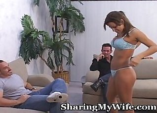 Hubby And Wife Cum Over For A Surprise |