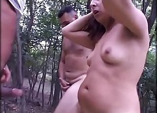 Hot girl fucked in various poses by dude in public outdoor |