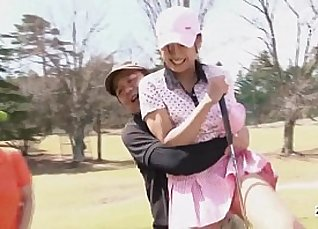 Subtitled uncensored HD Japanese golf outdoors exposure |