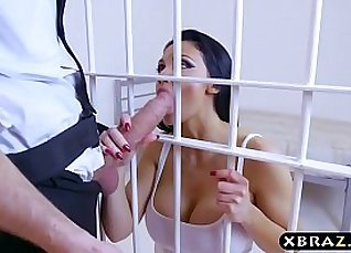 Inmate Aletta Ocean huge cock anal banged by an officer  
