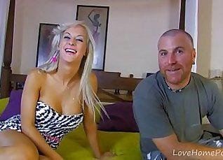Perfect blonde babe enjoying beeing fucked very hard  