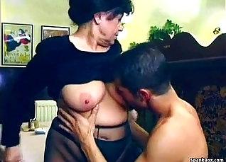 Brunette Granny with Illusive Nips |