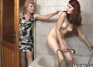 Girlfriend Teases her son well |