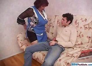 BBW Mom vs Busty Son  