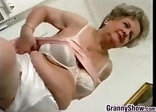 Chubby grandma strip for camera |