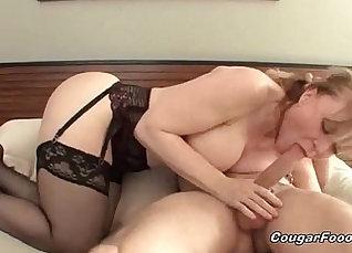 Blonde Cougar BFFs Kitana Blair and Donna gets nailed by Brandon  