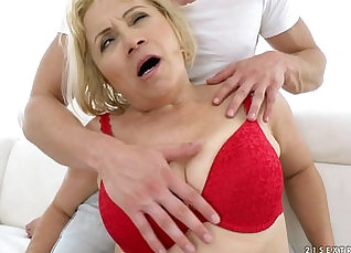 Blonde doll gets deep anal fucking |