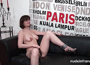 Busty brunette amateur getting fucked on casting |