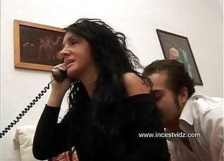 Italian Sister Miles Sucks His Dick  