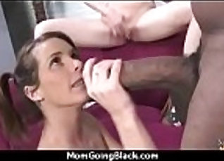Busty cougar dirty talk with young ebony girl |