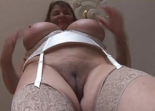 Busty brunette mature with hairy pussy gets hammered |