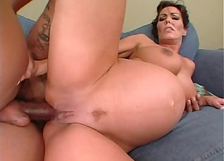 Interracial anal with pregnant mermaid  