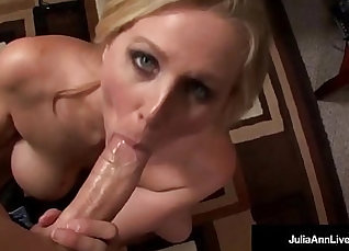 Big Tit MILF Goes Down on Cock And Gets Huge Facial |