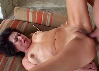 Anal Asian Granny vs Two Guys |