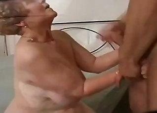 Skinny German granny hardcore  