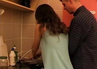 Dad fucks daughter in the kitchen |
