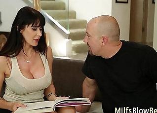 Cougar Swallows Ripe a little Cum  