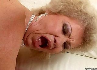 Excellent granny enjoying cock |