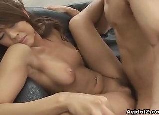 Charming Japanese babe Alisa Matsuura enjoys pounding her hairy pussy in the garden |