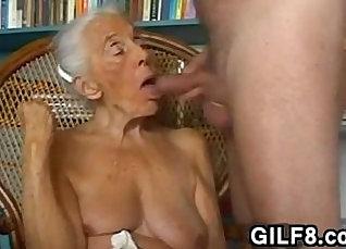 caught by grandma - homemade amateur blowjob  