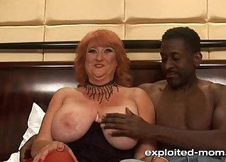 Amateur Casting Huge Tits Milf Sucks and Fucks long Black Cock dude |