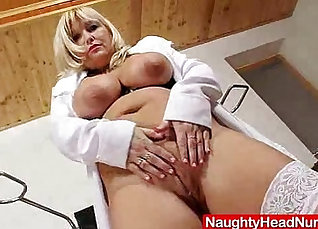 Busty mom on the Doctors couch |