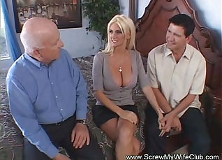Cuckold Wife fucks hubby, while husband watches |