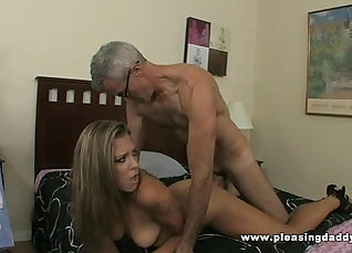 Brunette slut gets fucked all around to young excited cock |