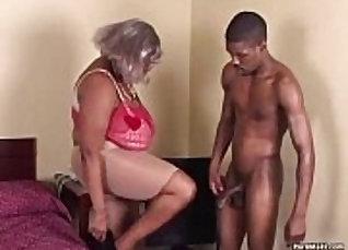 Chubby Granny Ebony Bustin With Big Tits Rides Huge Dildo |