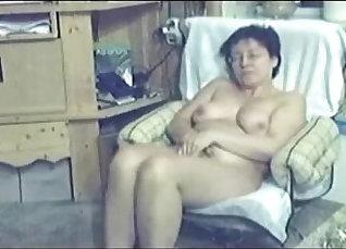 Hidden cam caught masturbating at home |