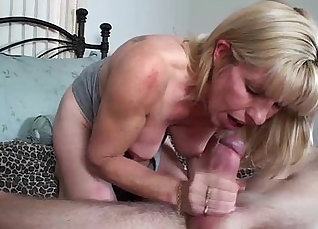 Mom rewards all of her stepbrothers cock when he leaves her at the hotel room |