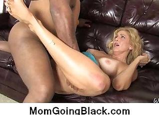 Busty Ebony Mom banged in interracial hard  