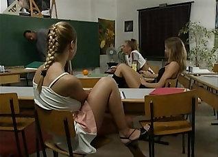 Busty black teacher seduces cutie |