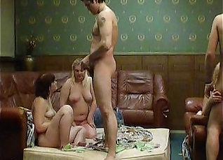 Straight and Blonde Gangbang and Swinger Sex Scene Scene |