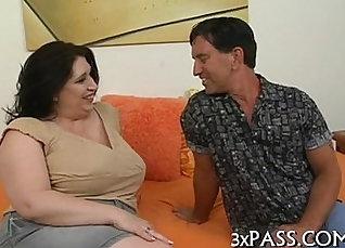 an extra hefty cock keeps bawdy haired slut happy  