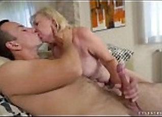 Russian Slut Grandma Komi licks BF |