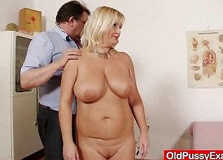 Busty hirel with huge natural tits fucks milf |