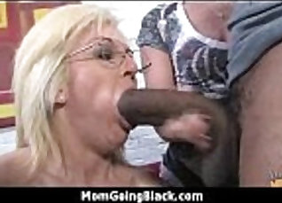 Plump milf fucked while fucking black guys and sucks cock |